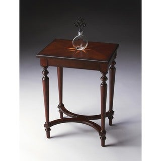 Butler Distressed Wooden Accent Table in Plantation Cherry Finish