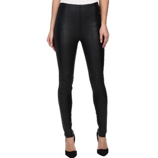 Minkpink Women's Cat Call Black Faux-leather Leggings