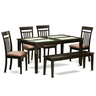 Cappuccino Finish Rubberwood 6-piece Kitchen Table Set
