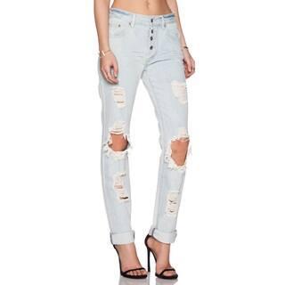 Somedays Lovin Women's Moku Blue Cotton Rigid Ripped Distressed Jeans|https://ak1.ostkcdn.com/images/products/12064061/P18932977.jpg?impolicy=medium