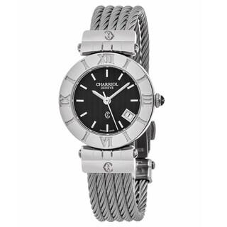 Charriol Women's ACSS.51A.805 'Alexandre' Black Dial Stainless Steel Small Swiss Quartz Watch