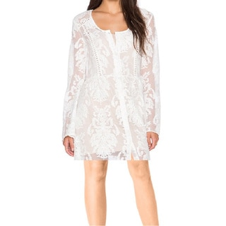 Minkpink Women's Crime of Passion Off-white Nylon Lace Dress