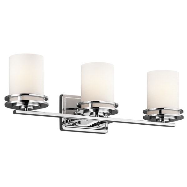 Kichler Lighting Hendrik Collection 3 Light Chrome Bath Vanity Light Free Shipping Today