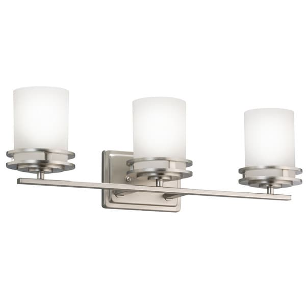 Shop Kichler Lighting Hendrik Collection 3 Light Brushed Nickel Bath
