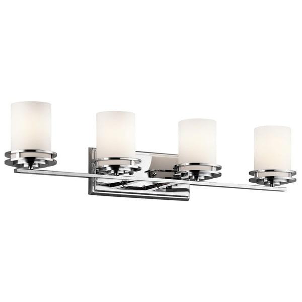Shop Kichler Lighting Hendrik Collection 4 Light Chrome Bath Vanity Light Free Shipping Today