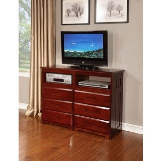 Merlot 6-drawer Cherry Wood Entertainment Dresser