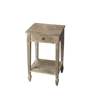 Butler Transitional Rectangular Side Table - Gray