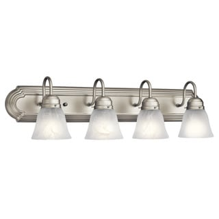 Kichler Lighting Utilitarian 4-light Brushed Nickel Bath/Vanity Light