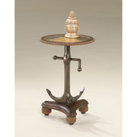 Butler Etched Brass Anchor Table