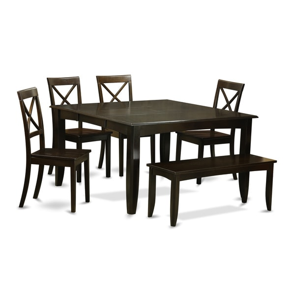 Shop Black Rubberwood 6-piece Dining Room Set With Dining