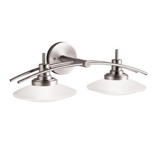 Kichler Lighting Structures Collection 2-light Brushed Nickel Halogen Bath/Vanity Light