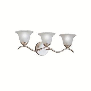 Kichler Lighting Dover Collection 3-light Brushed Nickel Bath/Vanity Light