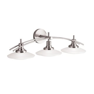 Kichler Lighting Structures Collection 3-light Brushed Nickel Halogen Bath/Vanity Light