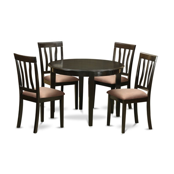 Wooden Kitchen Table Sets: Shop Brown And Tan Upholstered Wooden 5-piece Small