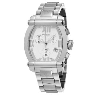 Charriol Women's 060T100T012 'Columbus' White Dial Stainless Steel Chronograph Swiss Quartz Watch