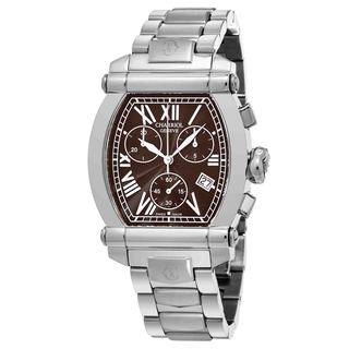 Charriol Women's 060T100T001 'Columbus' Brown Dial Stainless Steel Chronograph Swiss Quartz Watch
