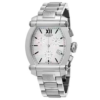 Charriol Women's 060T100710 'Columbus' Mother of Pearl Dial Stainless Steel Chronograph Swiss Quartz Watch