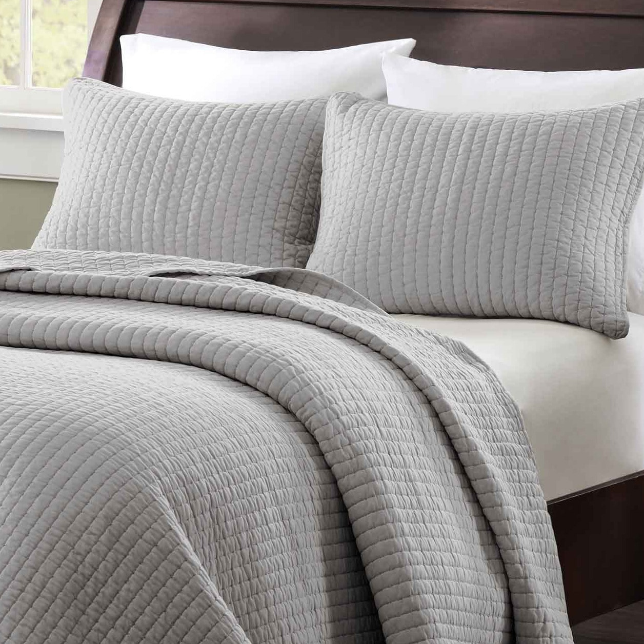 Madison Park Colby 2 Piece Twin Txl Size Coverlet Set In Grey As Is Item Overstock 12064258