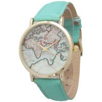 Olivia Pratt Women's Leather Travelers Watch