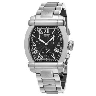 Charriol Women's 060T1002059 'Columbus' Black Dial Stainless Steel Chronograph Swiss Quartz Watch