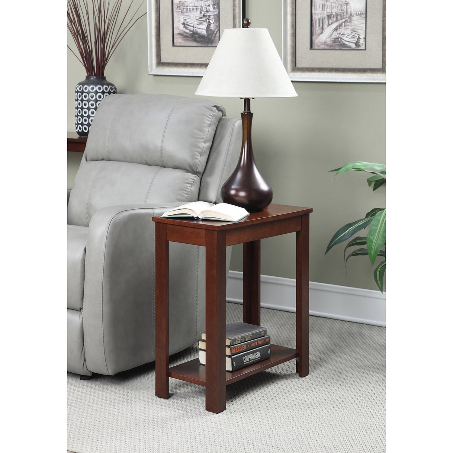 shop convenience concepts designs2go baja chairside end table free