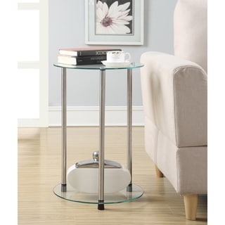Convenience Concepts Designs2Go Classic Glass 2-tier Round End Table