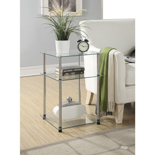 Convenience Concepts Designs2Go Classic Glass 3-tier End