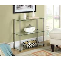 Porch & Den Bywater Chartres Glass 3-shelf Bookcase