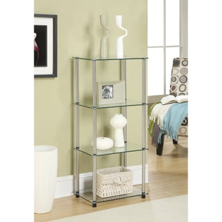 Porch & Den Bywater Chartres Glass 4-tier Tower Shelf (Option: Clear Glass)