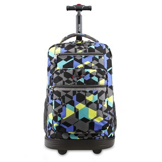 J World Sundance Cubes Rolling Laptop Backpack