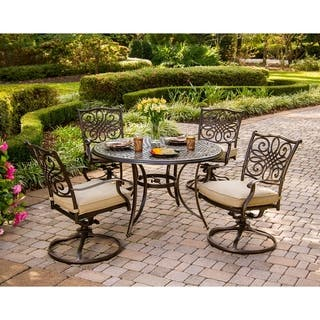 Hanover patio furniture find great outdoor seating dining deals hanover outdoor traditions 5 piece dining set aloadofball Images