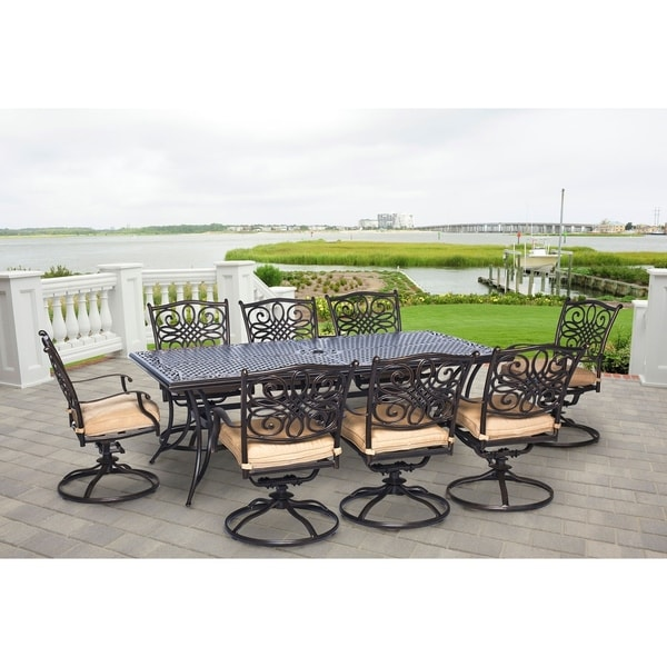 Hanover Outdoor TRADDN9PCSW-8 Traditions 9-piece Dining Set