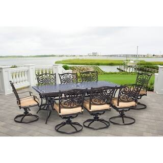 Hanover Outdoor TRADDN9PCSW-8 Traditions 9-piece Dining Set|https://ak1.ostkcdn.com/images/products/12064342/P18933439.jpg?impolicy=medium