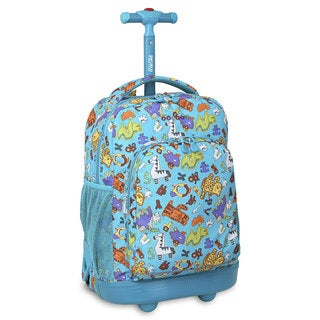 J World Sunny Aniphabets Rolling Backpack