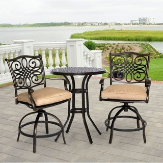 Hanover Outdoor Traditions 3-piece High-dining Bistro Set