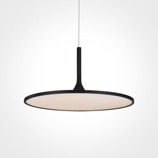 VONN Lighting VMC31820BL Salm 24-inch Modern Disc Chandelier in Black