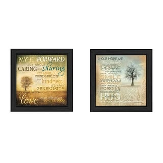"""Meaning"" Collection By Marla Rae, Printed Wall Art, Ready To Hang Framed Poster, Black Frame"