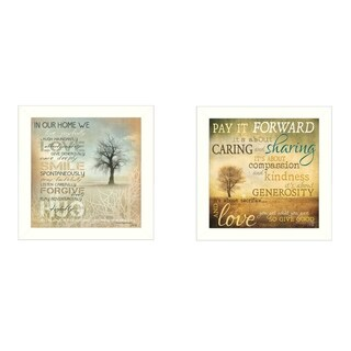"""Meaning"" Collection By Marla Rae, Printed Wall Art, Ready To Hang Framed Poster, White Frame"