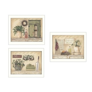 """Garden Bath"" Collection By Pam Britton, Printed Wall Art, Ready To Hang Framed Poster, White Frame"