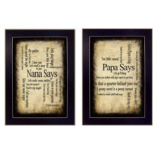 """Nana/Papa"" by Susan Ball Printed Framed Wall Art"
