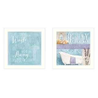 """""""Wash"""" Collection By Mollie B., Printed Wall Art, Ready To Hang Framed Poster, White Frame"""