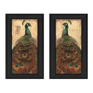 """Peacock"" by John Jones Printed Framed Wall Art"
