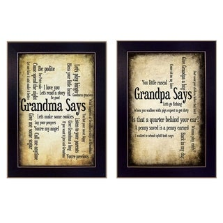 """""""Grandparents"""" Collection By Susan Ball, Printed Wall Art, Ready To Hang Framed Poster, Black Frame"""