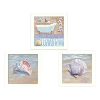 """Shells II"" Collection By Mollie B. and G. Janisse, Printed Wall Art, Ready To Hang Framed Poster, White Frame