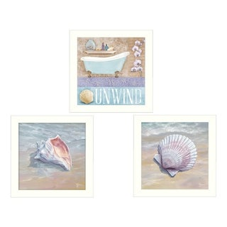 """Shells II"" Collection By Mollie B. and G. Janisse, Printed Wall Art, Ready To Hang Framed Poster, White Frame"