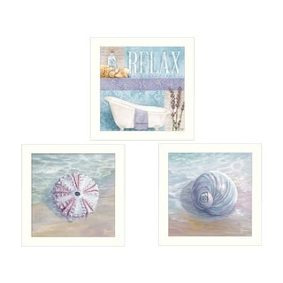 """""""Shells I"""" Collection By Mollie B. and G. Janisse, Printed Wall Art, Ready To Hang Framed Poster, White Frame"""