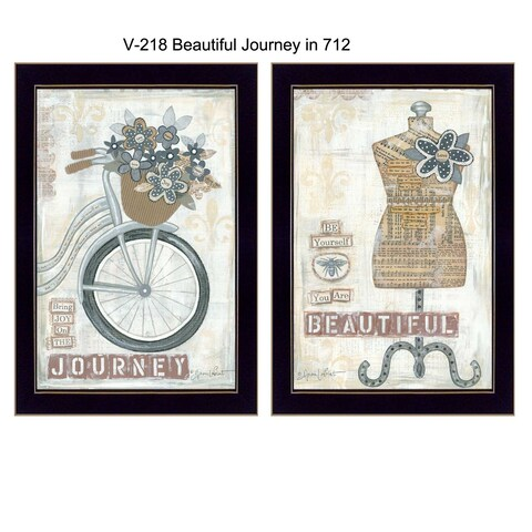 """Beautiful Journey"" Collection By Annie LaPoint, Printed Wall Art, Ready To Hang Framed Poster, Black Frame"