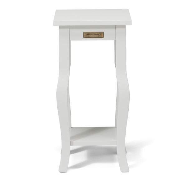 Kate And Laurel Lillian Wood Curved Leg End Table With Shelf   Free  Shipping Today   Overstock.com   18933502