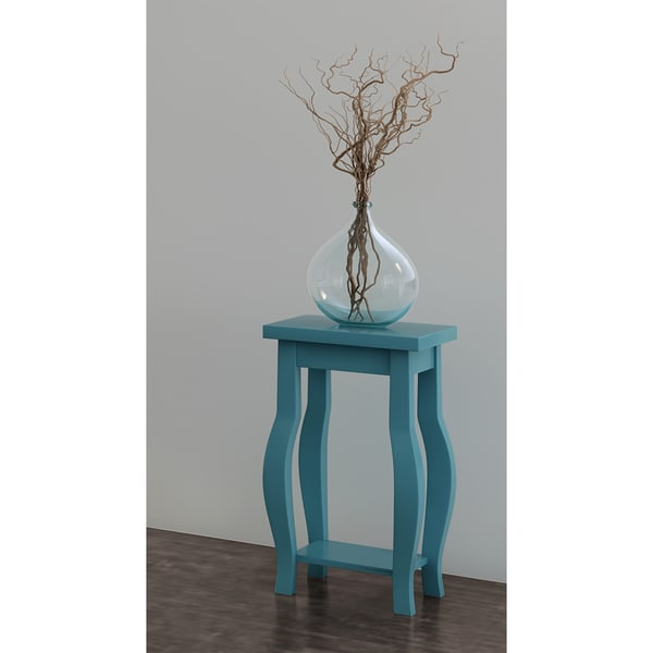 Kate And Laurel Lillian Wood Curved Leg End Table With Shelf Free Shipping  Today