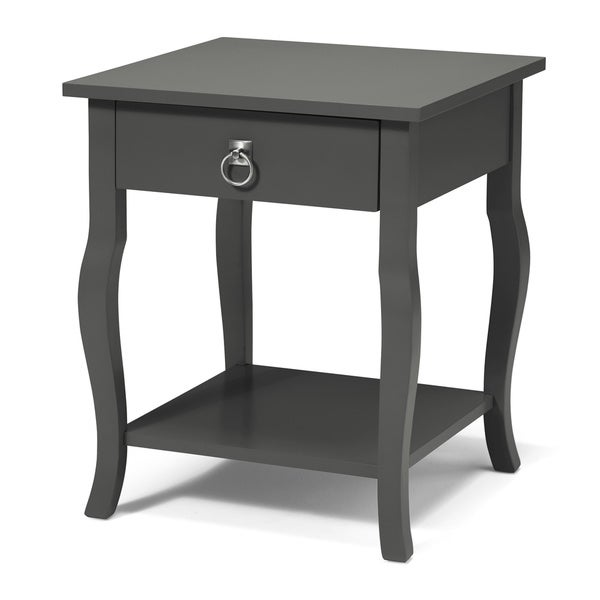 Kate And Laurel Lillian Wood 1 Drawer Side Table